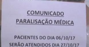 paralisacao dos medicos do estado